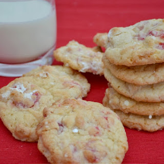 Cherry Bakewell Cookies.