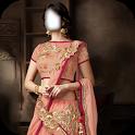 Women lehenga Choli costume montage photo frames icon
