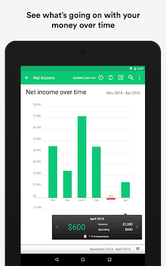 Screenshot 16 for Mint's Android app'