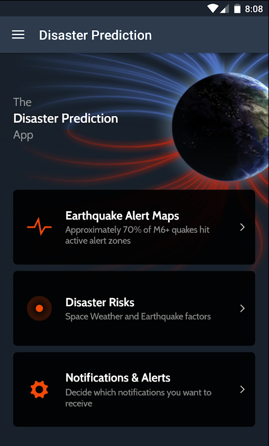 Disaster Prediction App- screenshot