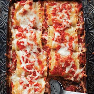 Beef, Basil & Goat Cheese Lasagna Roll-Ups.