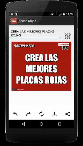Placas Rojas