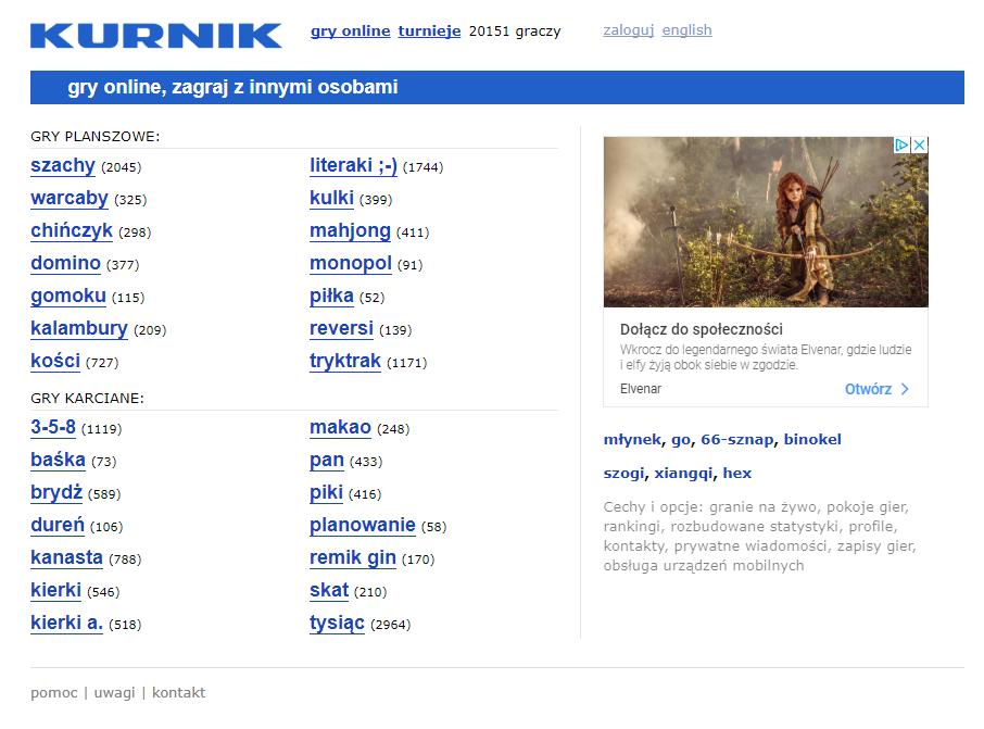 kurnik - dużo gier online