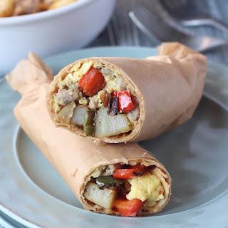 Whole-Food Breakfast Burritos - Freezer Friendly.