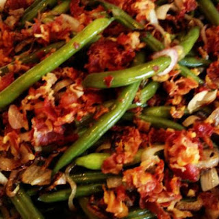 Green Beans with Shallots and Crispy Pancetta.
