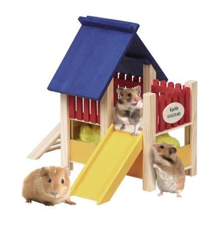 Lekborg Hamster Small med Rutshbana