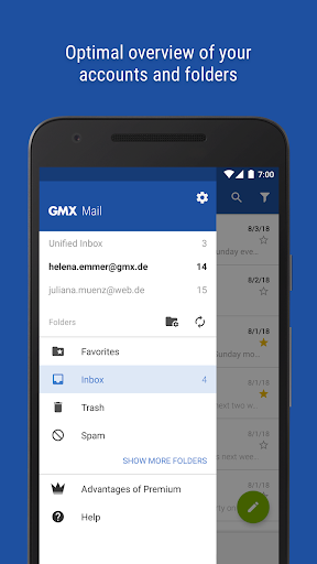 GMX - Mail & Cloud - screenshot
