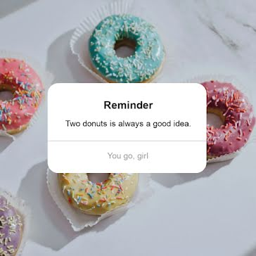 Donut Reminder - Video Templates Template