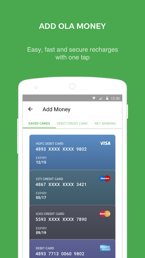 Ola Money - Wallet payments- screenshot