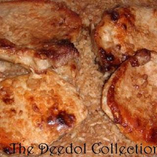 Pork Chop, Onion and Rice Casserole