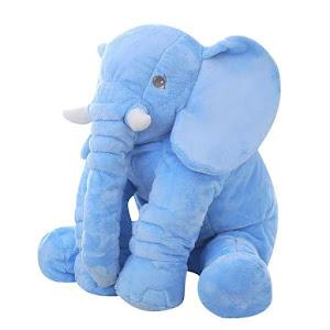 Jucarie elefant din plus si perna cu paturica inclusa