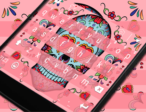 玩免費遊戲APP|下載Sugar Skull Eva Keyboard -Gifs app不用錢|硬是要APP