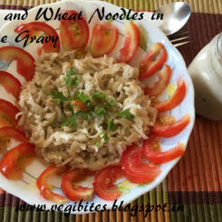 Rice and Wheat Noodles in White Gravy.