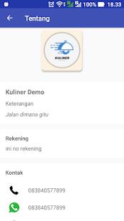 Kuliner Demo - náhled