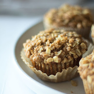 Whole Wheat Apple Oatmeal Muffins.