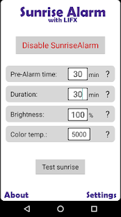 Sunrise Alarm with LIFX Free screenshot