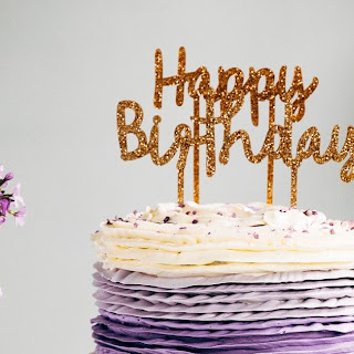 30th Birthday Chocolate Cake with Lavender Ruffle Frosting.
