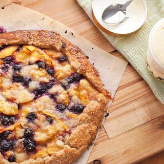 Peach and Blueberry Crostata
