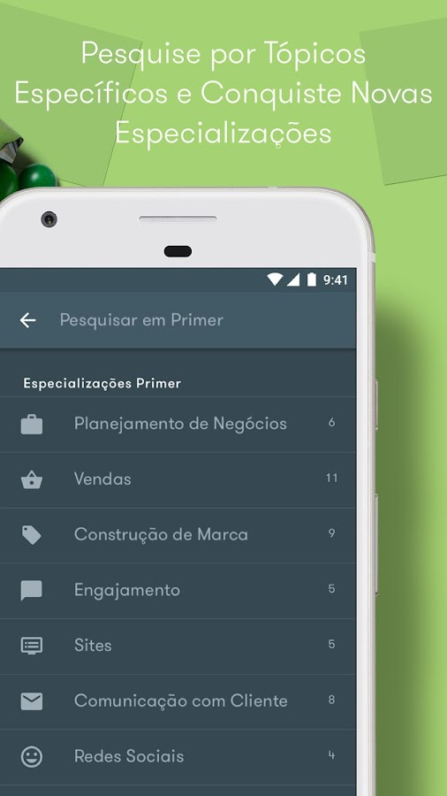Google Primer: captura de tela