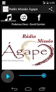 Rádio Missão Ágape screenshot 0