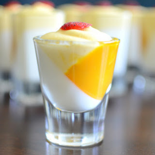 Vanilla Pannacotta with Mango Mousse