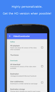 Video Downloader por Facebook: miniatura de captura de pantalla