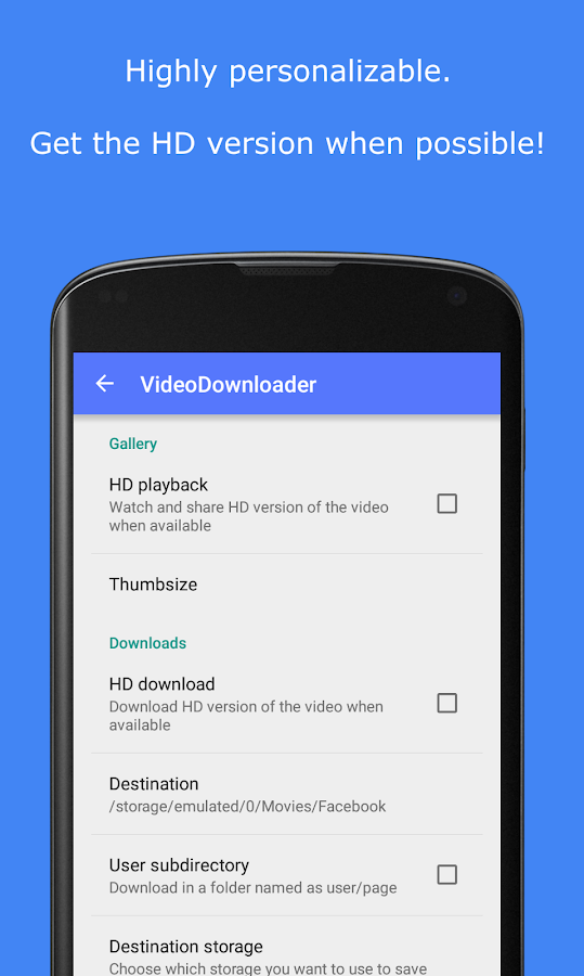 Video Downloader por Facebook: captura de pantalla