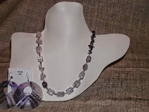 Photo: <BEREHYNYA> {Great Goddess Protectress} unique one-of-a-kind statement jewellery by Luba Bilash ART & ADORNMENT  Crackle quartz, amethyst, hand-painted shell, sterling silver SOLD/ПРОДАНИЙ