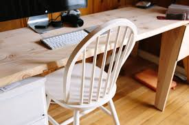 Use a nice, sleek chair when staging a home office