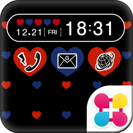 Polka-Dot Heart Wallpaper Icon