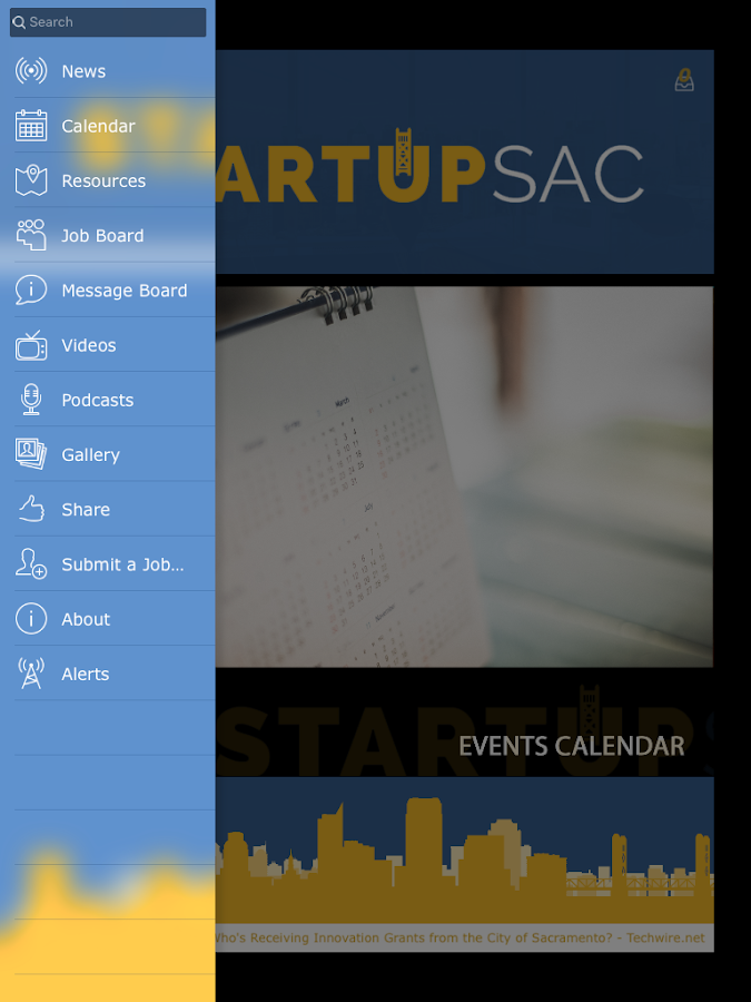 StartupSac- screenshot