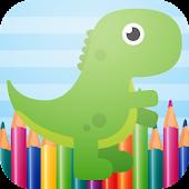 Cute Dinosaurs Coloring Book