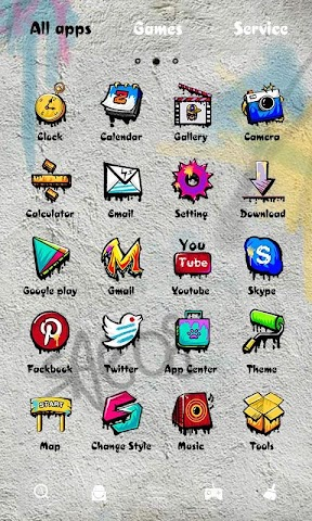 android Rock Graffiti GOLauncher Theme Screenshot 3