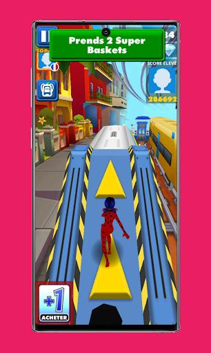 subway Lady Endless jump V3: cat runner noir jogos apktram screenshots 3