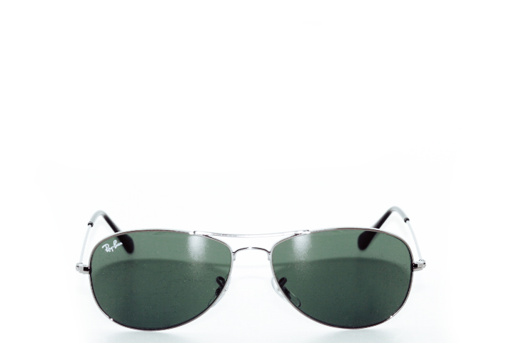 Ray Ban Cockpit Silver Green