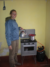 Photo: Our tiny stove.