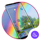 Beautiful & Colorful Rainbow APUS Launcher Theme Android APK Download Free By Cool Theme Team