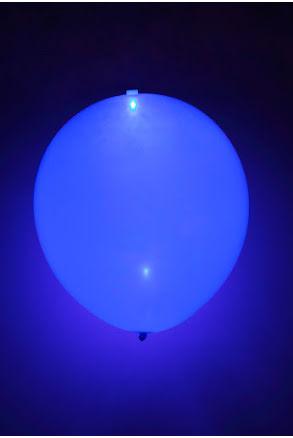 LED-ballong, blå 5st