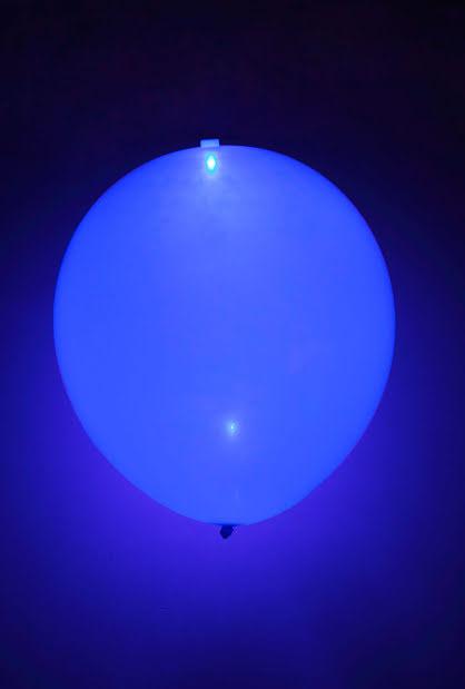 LED-ballonger, blåa