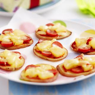 Mini Potato Pizzas.