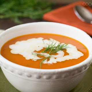 Quick Carrot Soup with Dill.