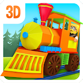 3D Toy Train Game For Kids