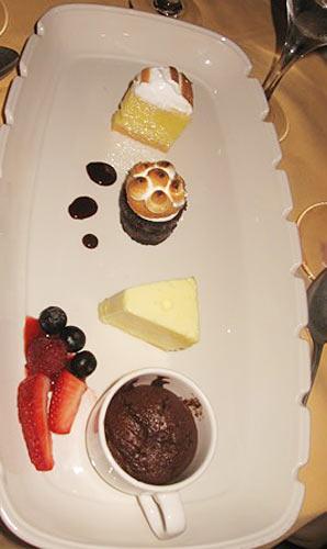 A dessert sampler at Sabatini's.