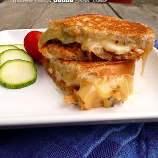 Mushroom Smoked Gouda Grilled Cheese Sandwich.