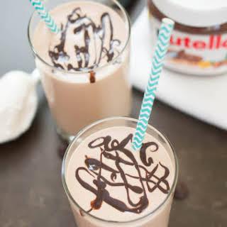 Peanut Butter & Nutella Milkshake.