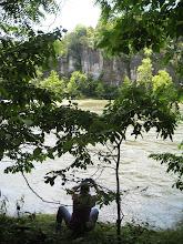 Photo: Cliffs across the river