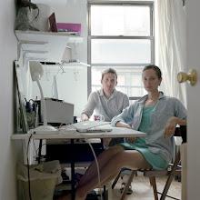 Photo: title: Marina Cashdan& Antony Crook, New York City, New York date: 2011 relationship: friends, art, met on FB via Rachel Perry Welty years known: 0-5