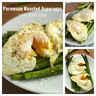 Parmesan Roasted Asparagus with Fried Eggs