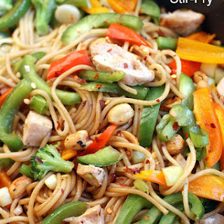 Kung Pao Noodle Stir-Fry.