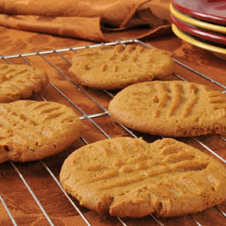 No Sugar Added Peanut Butter Cookies.